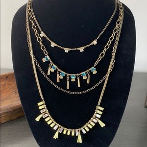 Silpada K&R Neon Layers Necklace Convertible